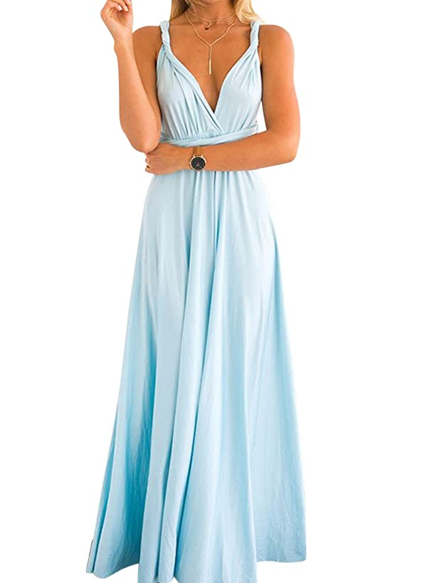 Clothink Convertible Warp Maxi Dress Multi Way Wear Party Wedding Bridesmaid Long Dresses