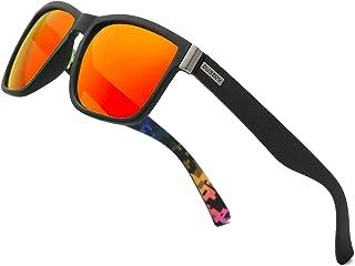 5b2eb3c6c8da6 DUBERY Vintage Polarized Sunglasses for Women Men 100% UV Protection Fashion  Square Oversized Sunglasses-D518