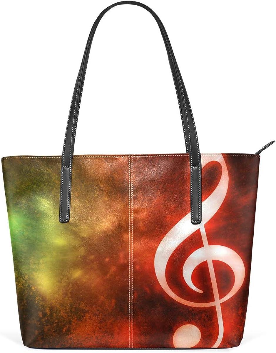 JSTEL Women Tote Top Handle Musical Abstract Shoulder Bags Ladies Fashion Handbag