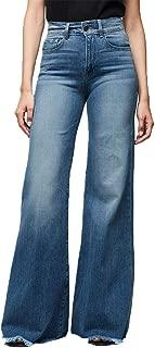 Kardashian Jeans,Women High Waisted Denim Stretch Slim Wide Leg Pants