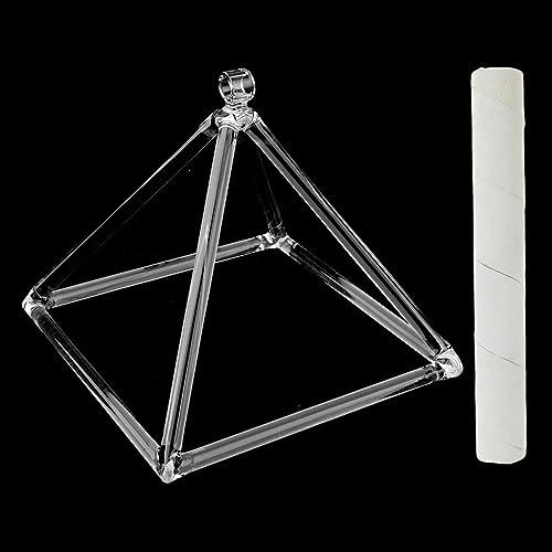 Perfeclan 8 Zoll TranSpaßente D-Key Klangschale Pyramide mit Schl l Set