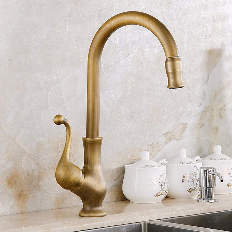 Bathroom taps Copper Bronze European dishwash Basin taps Ancient European taps Cold and hot Kitchen Sink taps can redate,C