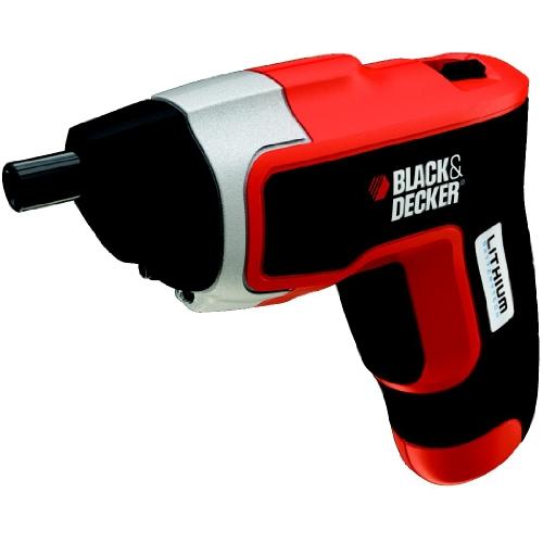 Black and Decker KC460LN-QW Atornillador sin Cable, 3,6 V, 3.6 W, 3.6 V, Negro, Gris, Rojo