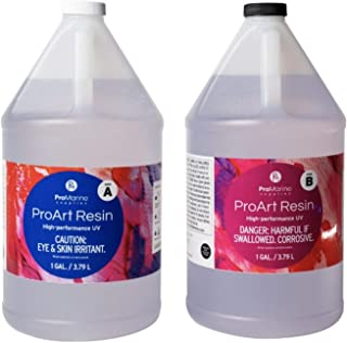 ProMarine Supplies Art Resin – 2 Gal Pro Art Resin Kit – Art Resin Epoxy Clear – Easy to Use and Non-Toxic Formula – High ...