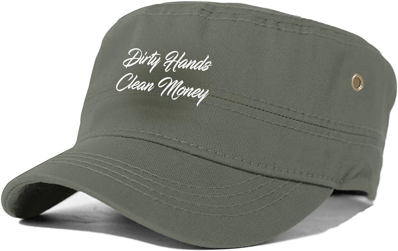 Dirty Many popular brands Hands Clean Money Unisex Adult Japan Maker New Cap Top Flat Sun M