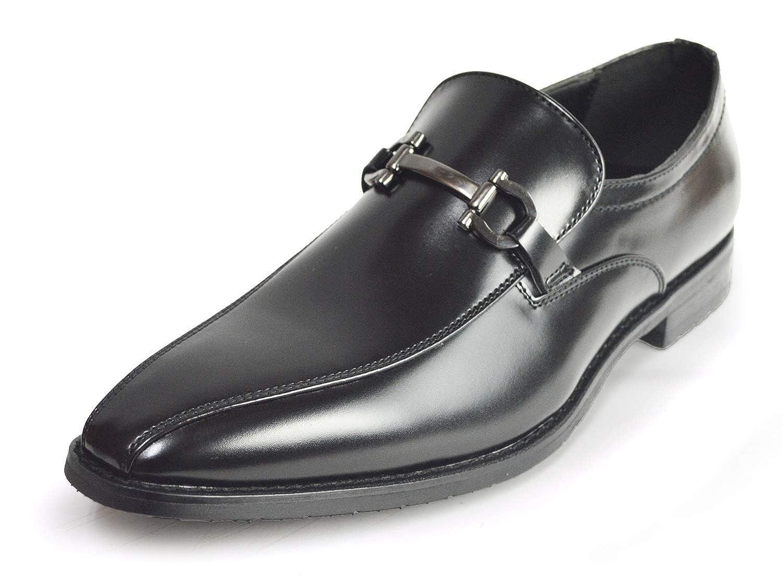 [ジーノ] ビジネスシューズ 靴 革靴 メンズ ローファー スリッポン ロングノーズ フォーマル 幅広 防滑 紳士靴