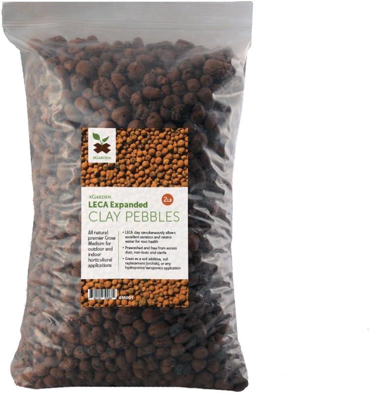 xGarden 2 lbs LECA Expanded Clay Pebbles - Horticultural Grade f
