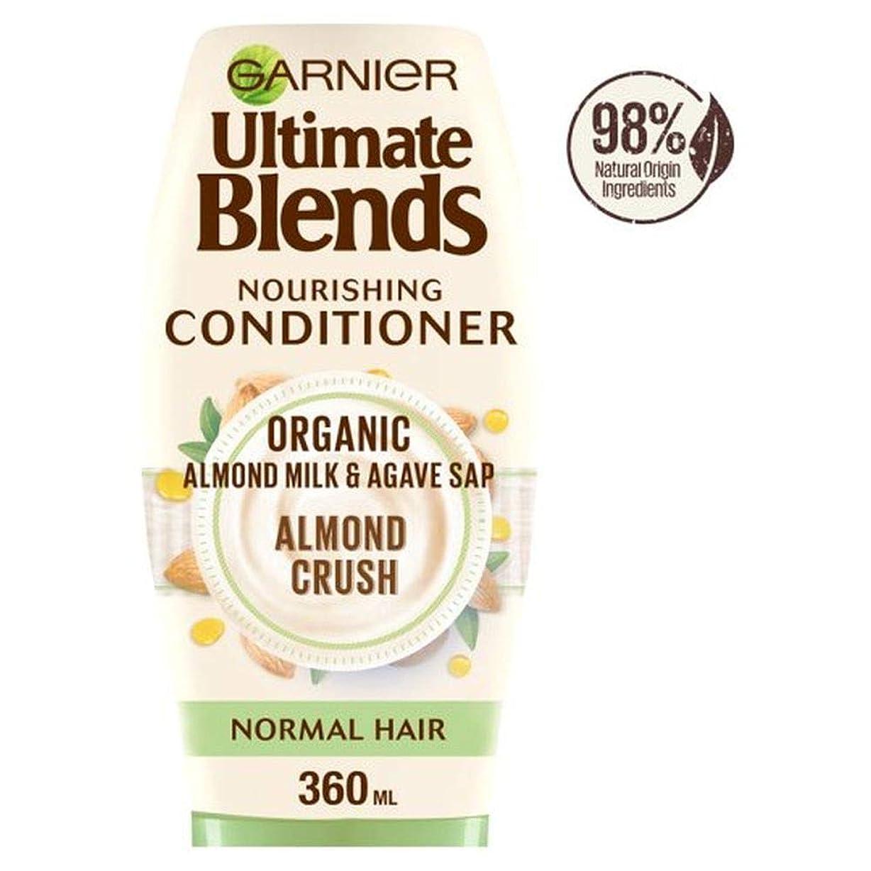フリース結果憂鬱な[Ultimate Blends ] ガルニエ究極は、アーモンドミルク、通常のヘアコンディショナー360ミリリットルをブレンド - Garnier Ultimate Blends Almond Milk Normal Hair Conditioner 360Ml [並行輸入品]