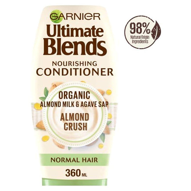 そのような曇ったモロニック[Ultimate Blends ] ガルニエ究極は、アーモンドミルク、通常のヘアコンディショナー360ミリリットルをブレンド - Garnier Ultimate Blends Almond Milk Normal Hair Conditioner 360Ml [並行輸入品]