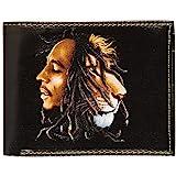 Bob Marley Men's Painted Lion Bi-Fold Wallet Black