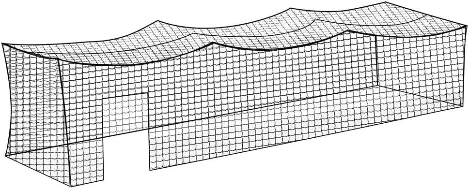 Aoneky Polyester 8x8x20ft Twisted Knotted Baseball Batting Cage Netting - NET ONLY - Not Include Poles and Frame Kits - Small Pro Garage Softball Batting Cage Net : Sports & Outdoors