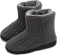 TQGOLD Slipper Boots for Women Men Warm Cozy Cashmere Bootie Slippers Indoor Outdoor Winter House Shoes
