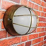 Lámpara de pared para exteriores 'Amsterdam' en color dorado / E27 hasta 60 W IP44 / lámpara de pared exterior nostálgica iluminación exterior patio jardín