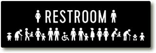 All Gender Restroom Sign with Including Mens' Changing Table Icon/Transgender