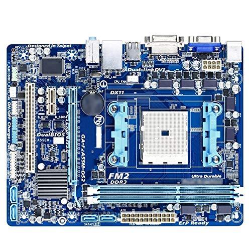 Placa Base de computadora Ajuste para La Placa Base Fit For GIGABYTE GA-F2A55M-DS2 DDR3 MAPINARIO Fit For para TOARES F2A55M-DS2 Socket FM2 A55 64GB Placa Base de computadora Profesional