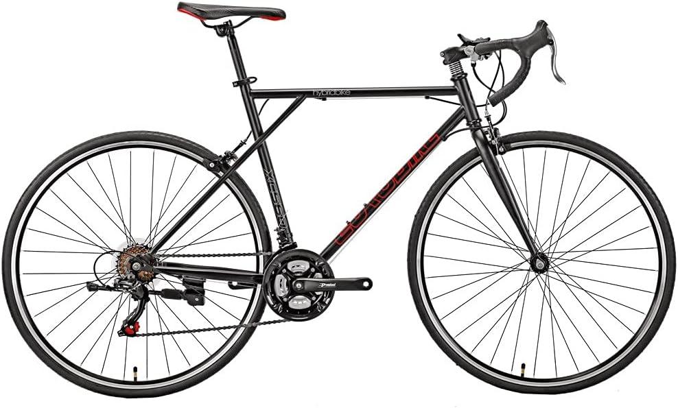 700c Road Max 72% OFF Bike Bicycles Men Import Adult 21-Speed Frame Bla 56cm Large