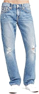 True Religion Men's Ricky Relaxed Straight Super T Jean w/Flap