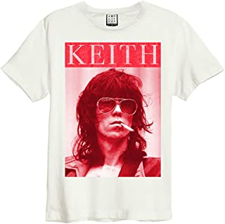 Amplified Clothing The Rolling Stones 'Kool Keef' (Natural) T-Shirt