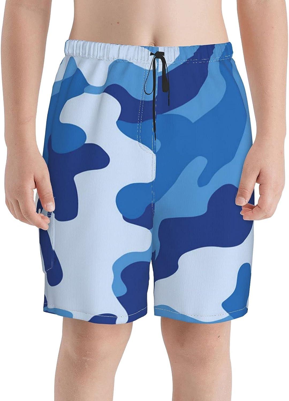Neddelo Blue Camouflage Boys Swim Boardshort Challenge the lowest price Beach Trunks Credence Teens