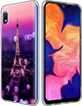 Yoedge Funda SamsungGalaxyA10, Ultra Slim Cárcasa Silicona Transparente con Dibujos Animados Diseño Patrón 360 Bumper Case Cover para SamsungGalaxyA10 Smartphone (Torre Eiffel)