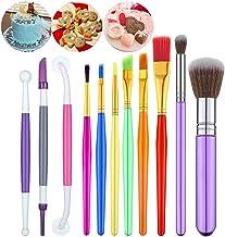 Alieny 11 Pieces Cake Decorating Brushes Tools Set, Cookie Decoration Brushes Fondant Gum Paste Decorating Tools Cake Cook...