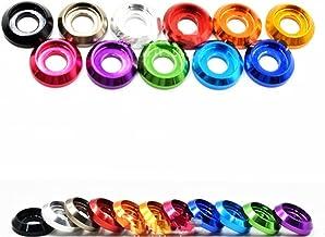 Cqinju-Washer M2 M2.5 M3 Kleurrijke Aluminium Cup Head Washer Voor Knopkop Schroef, 20 stuks, langdurige duurzaamheid (Bin...