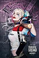 スーサイド スクワッド ハーレー クィン 3 Suicide Squad Harley Quinn シルク調生地 ファブリック アート キャンバス ポスター 約60×90cm [並行輸入品]