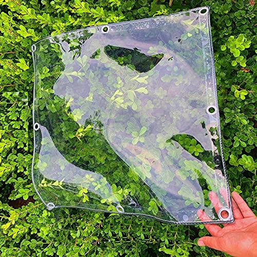 U/D Lonas Impermeables Exterior, Lona Transparente Impermeable, Lona De Plástico De Vidrio Blando De PVC Transparente con Ojales,Clear,1.5x2m