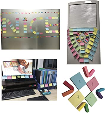 Nice Paper Cute Boxed Self-Sticky Notes, Memo Pad Set, 1920 Pieces Page Colorful Makers Tabs, Arrow Flag Colored Labels,12 Co