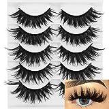 3D Soft Mink False Eyelashes Fluffy Wispy Thick Eye Lashes Full Strips Makeup Tools 5 Pairs (H6)