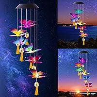 Diojilad Solar Color Changing LED Wind Chime