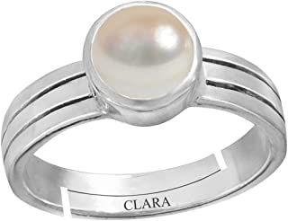cfc824f91 Clara Pearl Moti 3.9cts or 4.25ratti Stone 92.5 Sterling Silver Adjustable  Ring for Men