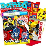 Transformers Imagine Ink Coloring Book Super Set with Over 300 Stickers (Includes Mess-Free Marker)