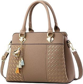 Clearance Sale! ZOMUSAR Fashion Women Leather Splice Handbag Shoulder Bag Crossbody Messenger Bag Tote Bag