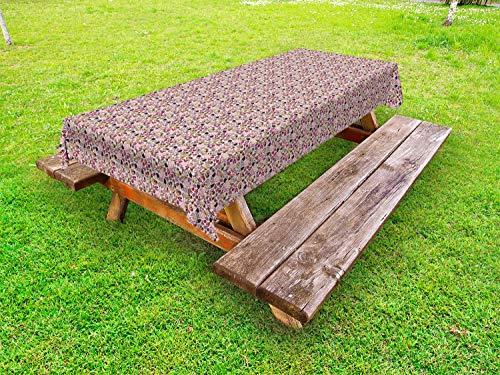 ABAKUHAUS Koekje Tafelkleed voor Buitengebruik, Snoepjes in verschillende Shapes, Decoratief Wasbaar Tafelkleed voor Picknicktafel, 58 x 104 cm, Veelkleurig