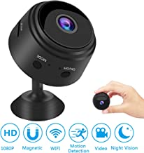 Mini Spy Camera Wireless Hidden WiFi Camera, HD 1080P Portable Indoor Home Security Camera with Motion Activated/Night Vision Remote Monitor for iPhone Android iPad Computer App