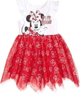 20c37b7fcb Disney\'s Minnie Mouse Handkerchief-Hem Birthday Tutu Dress Little Girls -  White