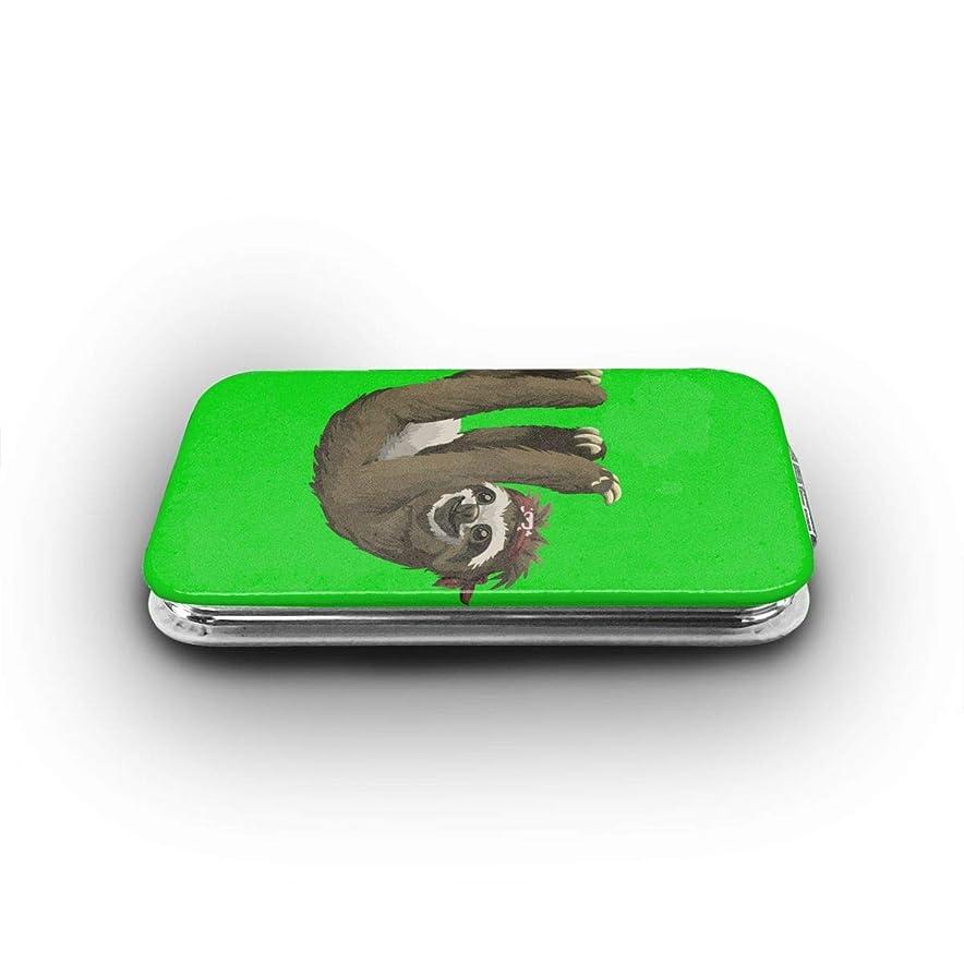 隔離するアイザッククレアナマケモノ 携帯ミラー 手鏡 化粧鏡 ミニ化粧鏡 3倍拡大鏡+等倍鏡 両面化粧鏡 角型 携帯型 折り畳み式 コンパクト鏡 外出に 持ち運び便利 超軽量 おしゃれ 9.8X6.6CM