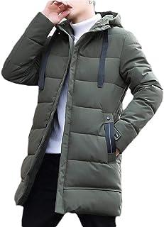 Hokny TD Men's Down Jacket Winter Warm Thick Puffer Zipper Hooded Coat Outwears