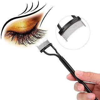 Curler do pente de pente, pincel de sobrancelha de rímelo de agulha de aço com tampa do pente Arco projetado maquiagem fer...