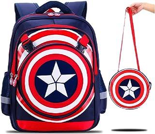 KZ3527-W617 mochila de dibujos animados 3D para niños con logo de Capitán América