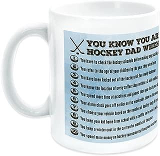 You Know You're A Hockey Dad When Ceramic Mug | Hockey Coffee Mug by ChalkTalkSPORTS | Ice