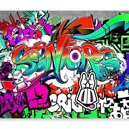 murando Papier peint intissé 350x256 cm Décoration Murale XXL Poster Tableaux Muraux Tapisserie Photo Trompe l'oeil Graffiti en couleurs i-B-0005-a-c