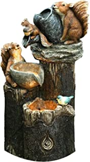 Resin Duck Water Fountain Statue ,Solar Powered Garden Lights Squirrel Water Fountain Statue,Squirrel/Duck Pressure Water ...