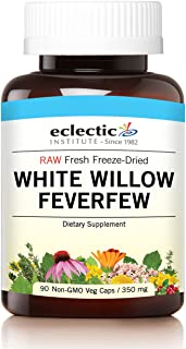 Eclectic White Willow Feverfew Freeze Dried Vegetables with Glass, Blue, 90 Count