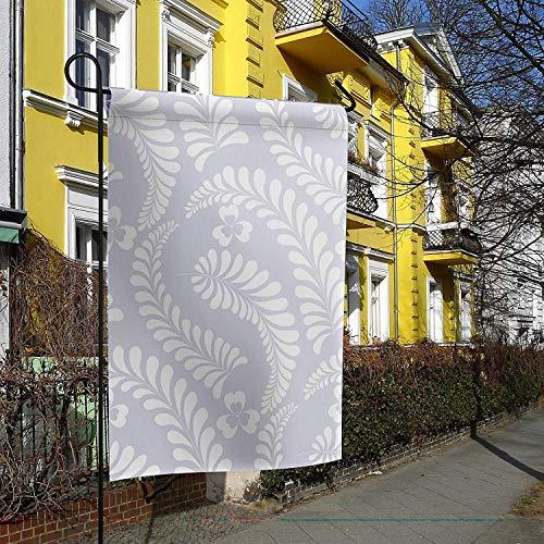 Gartenfahne Haus Banner dekorative Flagge Home Outdoor Valentinstag, einzigartige St. Patrick's Day Motiv Klee Pflanze Silhouetten Urlaubselemente Yard Flag 12 x 18 Zoll