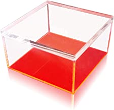 OnDisplay Electric Neon Luxe Clear Acrylic Storage Treasure Box - Large