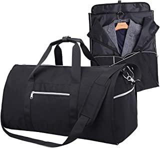 Travel Carry-on Garment Bag 2 in 1 for Men and Women Folding Suit Duffel Weekender Bag