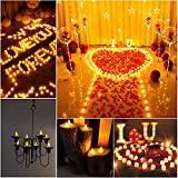 24 LED Kerzen, Diyife® LED Flammenlose Tealights, Flackern Teelichter, elektrische Kerze Lichter Batterie Dekoration für Weihnachten, Weihnachtsbaum, Ostern, Hochzeit, Party [Batterien enthalten] - 7