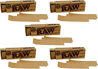 RAW Gummed Perforated Tips {5 Packs} Rolling Paper Filter Tips